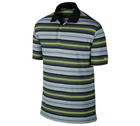 Nike Mens Key Stretch UV Stripe Golf Polo Shirt 2014 (Black/Volt)