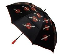 Odyssey 64 Inch Double Canopy Umbrella (Black/Red)
