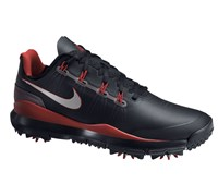 Nike Mens TW 14 Golf Shoes 2014 (Black/Metallic Silver/Red)