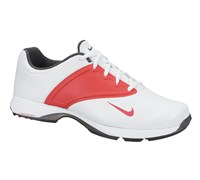 Nike Ladies Lunar Saddle Golf Shoes 2014 (White/Red/Grey)