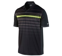 Nike Mens Innovation Speed Stripe Golf Polo Shirt 2014 (Black/Anthracite/Electric)
