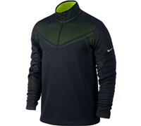 Nike Mens Hypervis Half Zip Coverup 2014 (Black/Green/Silver)