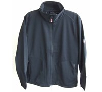 Oscar Jacobson Mens 2 Layer Fleece Jacket (Black)