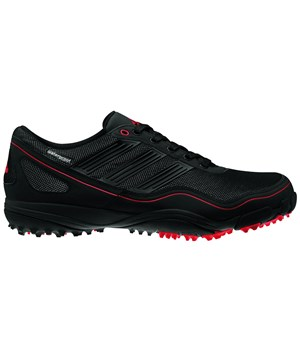 Adidas Mens Puremotion Waterproof Spikeless Golf Shoes (Black/Red) 2012