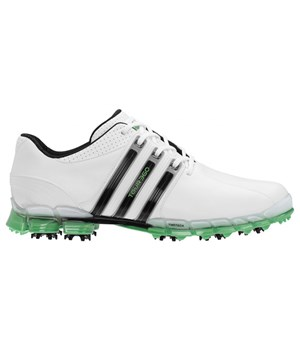 Adidas Mens Tour 360 ATV Golf Shoes (White/Black/Intense Green) 2012
