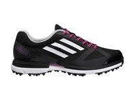 Adidas Ladies Adizero Sport Golf Shoes (Black/White/Purple) 2014