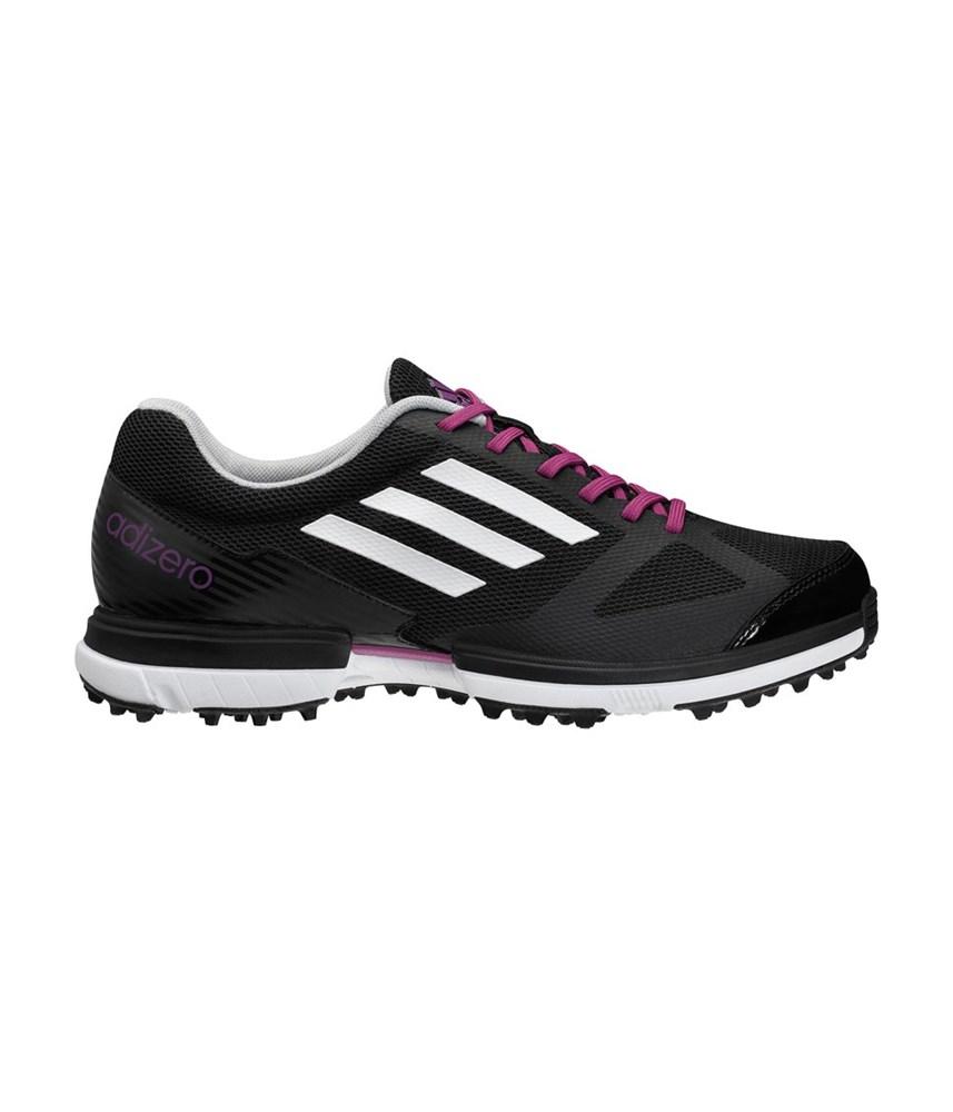 adidas adizero sport golf shoes black white purple