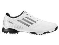 Adidas Mens Adizero 6 Spike Golf Shoes (White/Black) 2013