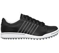 Adidas Junior Adicross Street Shoes (Black/White/Dark Metallic Silver)