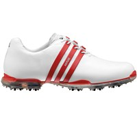 Adidas Mens AdiPure Shoes (White/University Red/Metallic Silver)