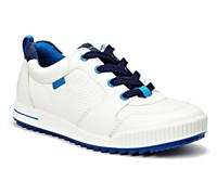 Ecco Junior Street Golf Shoes 2014 (White/Blue)