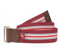Puma Golf Stripe Jacquard Web Belt (Red)