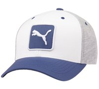 Puma Golf Cat Patch Relaxed Fit Adjustable Cap (Grey/White)
