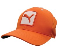 Puma Golf Cat Patch Relaxed Fit Adjustable Cap (Vibrant Orange)