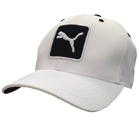 Puma Golf Cat Patch Relaxed Fit Adjustable Cap (White/Black)
