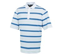 FootJoy Mens Stretch Pique Stripe Set-On-Placket Polo Shirt 2014 (White/Marine)