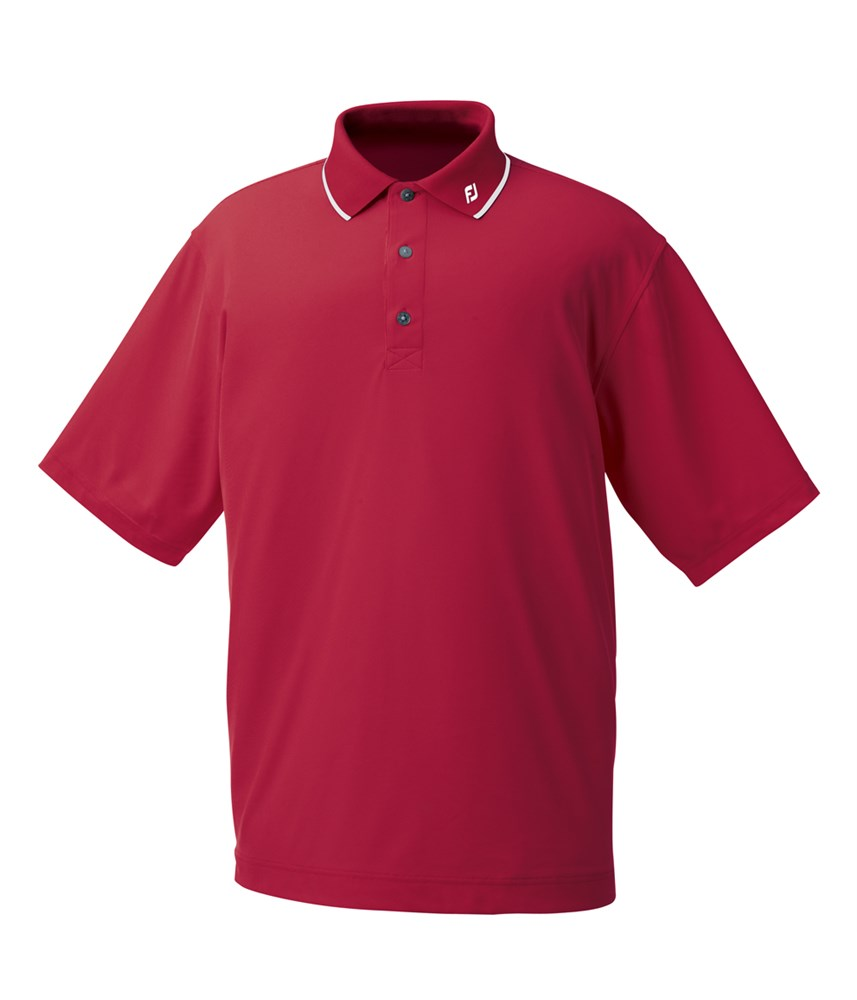 footjoy mens performance pique tipped collar polo shirt