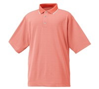 FootJoy Mens Performance Jacquard Polo Shirt (Coral/White)