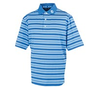 FootJoy Mens Stretch Lisle Stripe Polo Shirt 2014 (Marine/White)