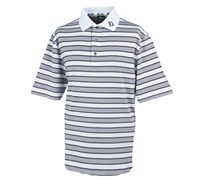FootJoy Mens Stretch Lisle Stripe Polo Shirt 2014 (White/Grey)