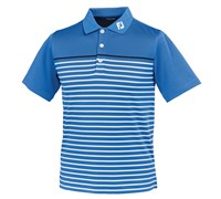 FootJoy Junior Stretch Pique Engineered Stripe Polo Shirt 2014 (Marine)