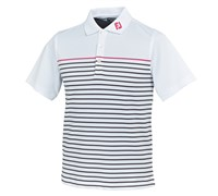 FootJoy Junior Stretch Pique Engineered Stripe Polo Shirt 2014 (White)