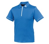 FootJoy Junior Stretch Pique Zip With Piping Polo Shirt 2014 (Marine)