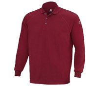 Mizuno Mens DryLite Long Sleeve Polo Shirt (Fire)