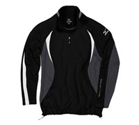 Mizuno Mens WarmaLite 1/4 Zip Jacket (Black/Grey)