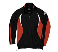 Mizuno Mens WarmaLite 1/4 Zip Jacket (Black/Orange)