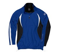 Mizuno Mens WarmaLite 1/4 Zip Jacket (Royal/Black)
