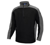 Mizuno Mens WindLite 1/4 Zip Fleece (Black/Silver)