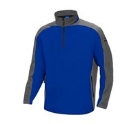 Mizuno Mens WindLite 1/4 Zip Fleece (Royal/Silver)