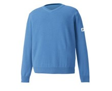 Footjoy Mens Lambswool V-Neck Sweater (Light Blue)