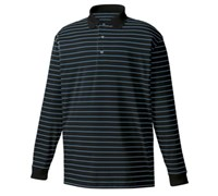 FootJoy Mens Performance Thermacool Interlock Stripe Polo Shirt (Black/Royal/White)