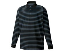 FootJoy Mens Performance Thermacool Interlock Stripe Polo (Black/Royal/White)