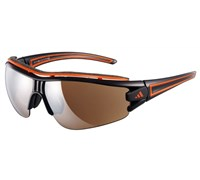 Adidas Eyewear Evil Eye Halfrim Pro L Sunglasses (Shiny Black/Orange)