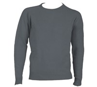 Ashworth Mens Lambswool Crew Neck Sweater (Graphite)