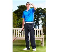 Stromberg Mens Altea 2 Funky Golf Trouser (Navy/Blue/White Stripe)