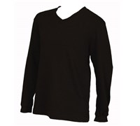 Ashworth Mens French Terry V Neck Sweater (Black)