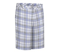 Ashworth Madras Plaid Flat Front Short 2013 (Bleached Denim)
