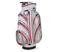 Callaway Aqua Dry Waterproof Cart Bag 2014 (White/Metallic Silver/Red)