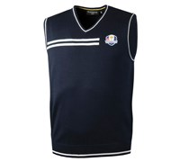Glenmuir Mens Ryder Cup Ardoch V Neck Slipover (Navy/White)