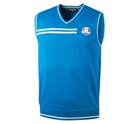 Glenmuir Mens Ryder Cup Ardoch V Neck Slipover (Blue/White)
