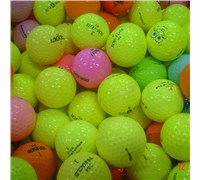 Assorted Mixed Colour Golf Balls - Grade A/B  50 Balls