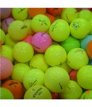 Assorted Mixed Colour Golf Balls (50 Balls) - Grade A/B