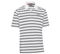 TaylorMade By Ashworth Pique Striped Polo 2012 (White/Black)