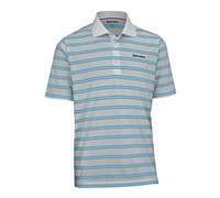 TaylorMade By Ashworth Pique Striped Polo Shirt 2013 (Opal/Blue Line)