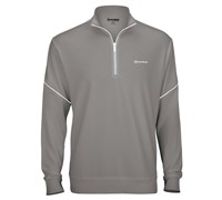 TaylorMade By Ashworth Piped Pullover Sweater (Shift Grey/White)