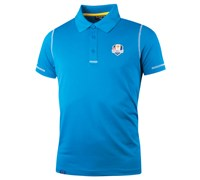 Glenmuir Mens Ryder Cup Auchterarder Performance Polo Shirt (Blue/White)